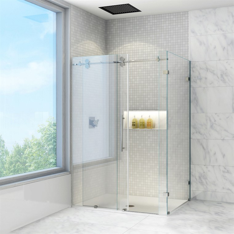 "Vigo Industries Frameless Rectangular Shower Enclosure - 36"" x 48"" VG06051-36-48"
