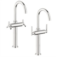Grohe Atrio Deck-Mount Vessel Faucet - Infinity Brushed Nickel