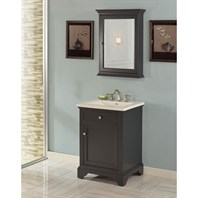 "Fairmont Designs Framingham 24"" Vanity for Integrated Top - Obsidian 1508-V24-"