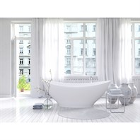 Aquatica PureScape 621M Freestanding Solid Surface Bathtub - Fine Matte White Aquatica PS621M-Wht