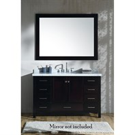 "Ariel Cambridge 55"" Single Sink Vanity with Rectangle Sink and Carrara White Marble Countertop - Espresso A055SCWRVOESP"