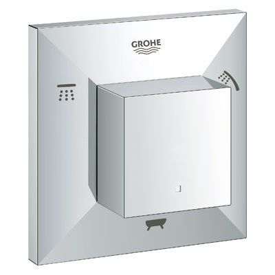 Grohe Allure Brilliant 5-Port Diverter Trim - Starlight Chrome GRO 19799000