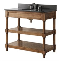 "Avanity Montage 36"" Single Bathroom Vanity - Weathered Oak MONTAGE-V36-WO"