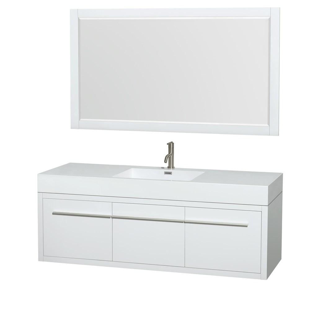 Axa 60 Wall Mounted Single Bathroom Vanity Set With Integrated Sink