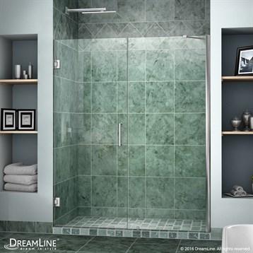 "Bath Authority DreamLine Unidoor Frameless Hinged Shower Door, 53""-61"" SHDR-20537210C by Bath Authority DreamLine"
