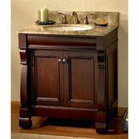 "Fairmont Designs 30"" Traditional Collection Victoria Vanity - Dark Cherry 154-V30"