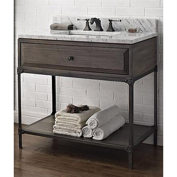 Fairmont Designs 36 Toledo Open Shelf Vanity Driftwood Gray Free Sh