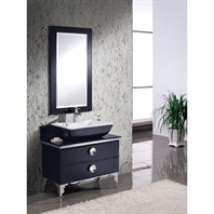 "Fresca Moselle 36"" Modern Glass Bathroom Vanity with Mirror FVN7712BL"