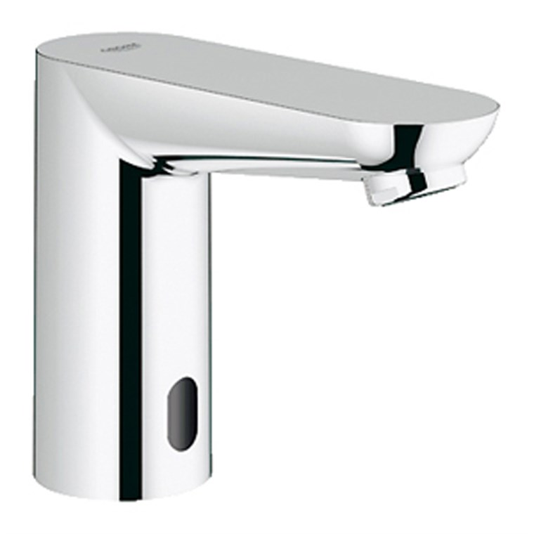 "Grohe Euroeco Cosmopolitan E 1/2"" Infra-red Electronic Bath Faucet without Mixing Device - Starlight Chrome GRO 36314000"