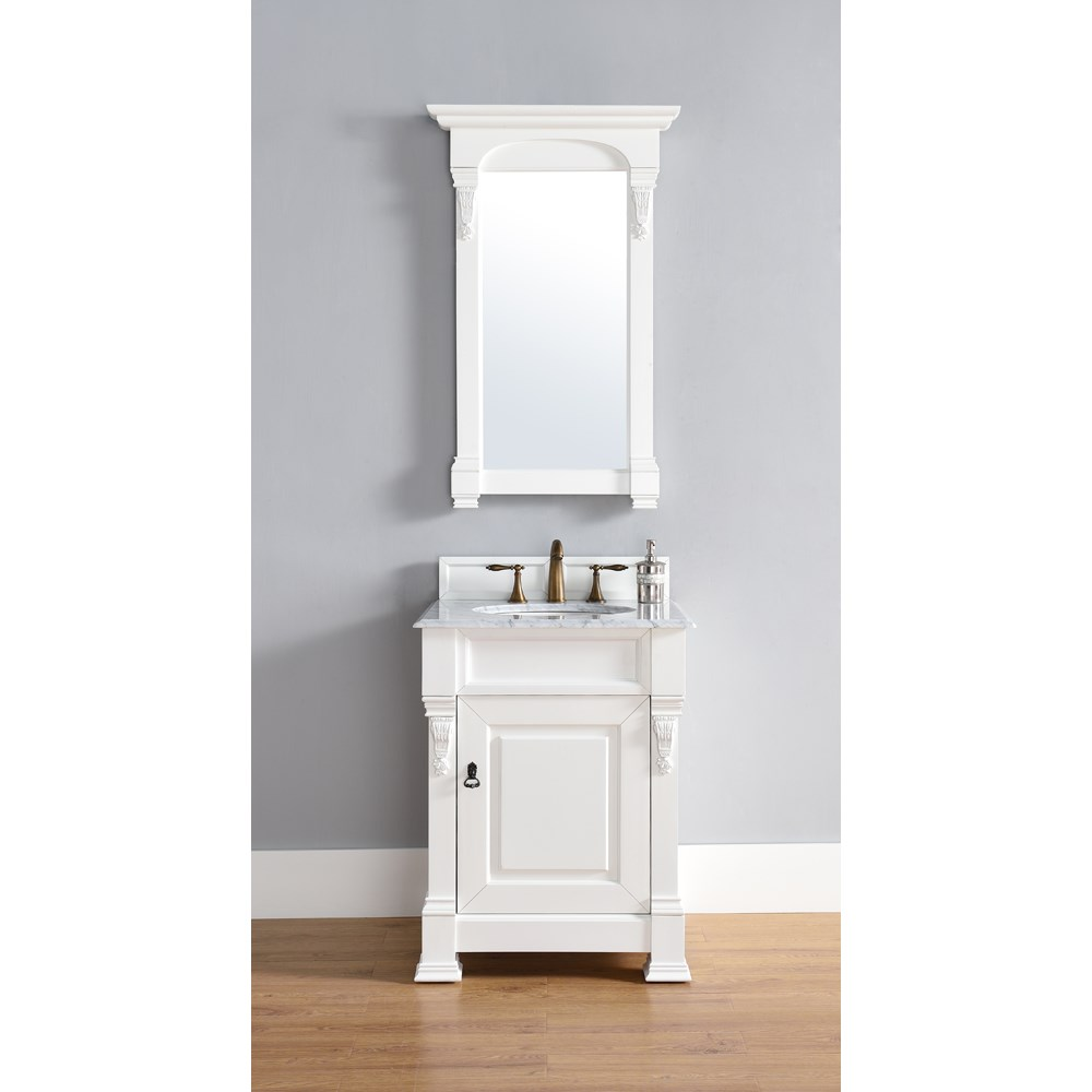 "James Martin 26"" Brookfield Single Cabinet Vanity - Cottage Whitenohtin Sale $640.00 SKU: 147-114-V26-CWH :"