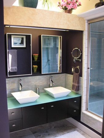 Bathroom design ideas bathroom vanity renovation modern for Espresso bathroom ideas
