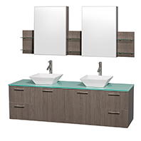 Amare Wall-Mounted Modern Bathroom Vanities
