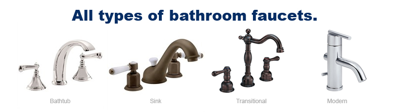 All types of bathroom faucets
