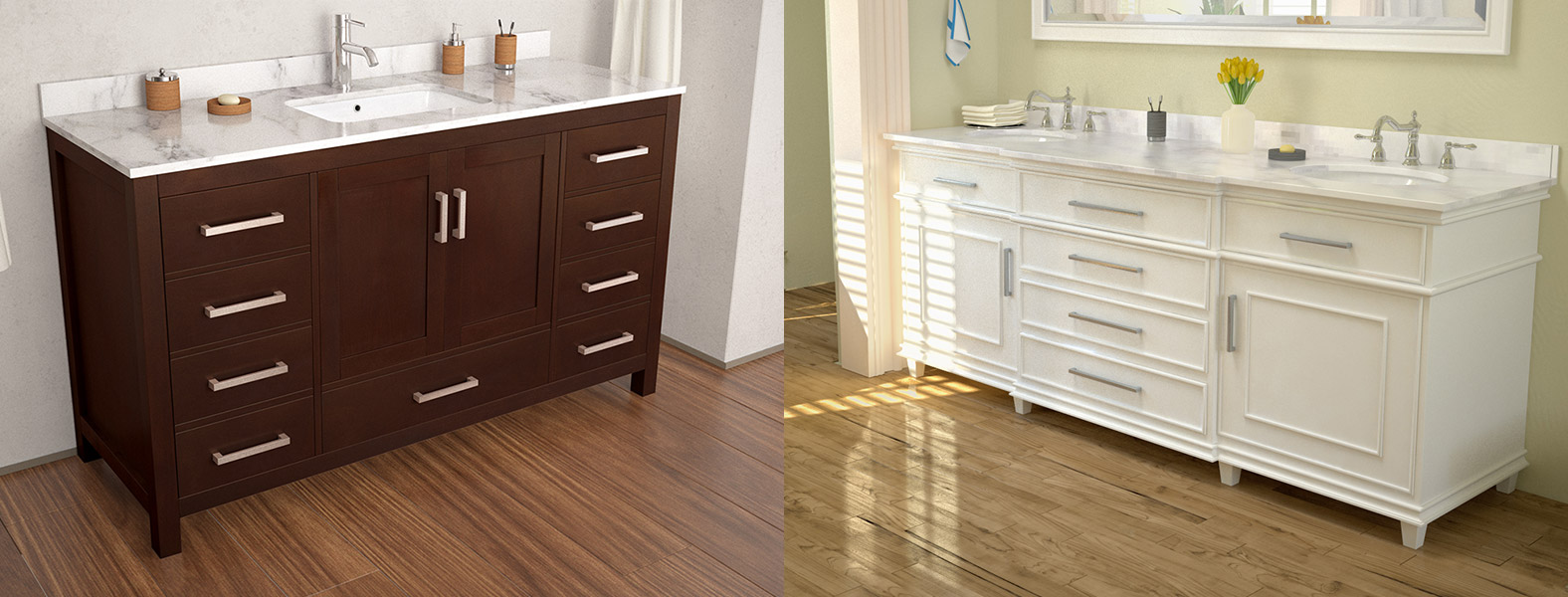 Vanity styles for any bathroom