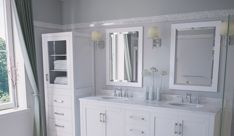 Bathroom Mirrors Vanity Modern Framed Antique Modern Bathroom
