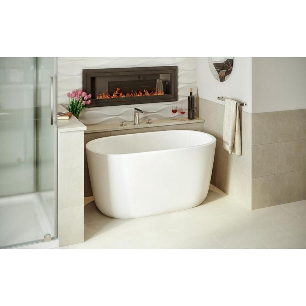 Aquatica lullaby nano wht small freestanding solid surface - Small bathroom with tub ...