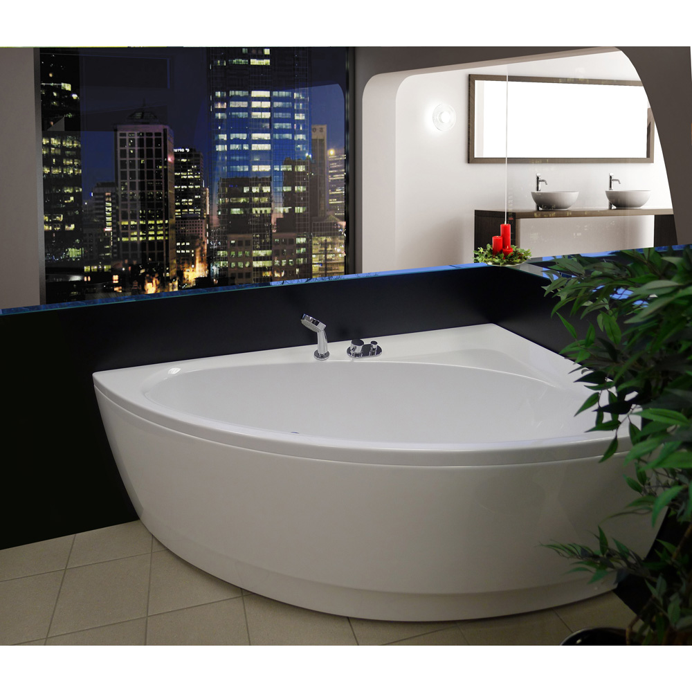 aquatica idea corner acrylic bathtub free shipping. Black Bedroom Furniture Sets. Home Design Ideas