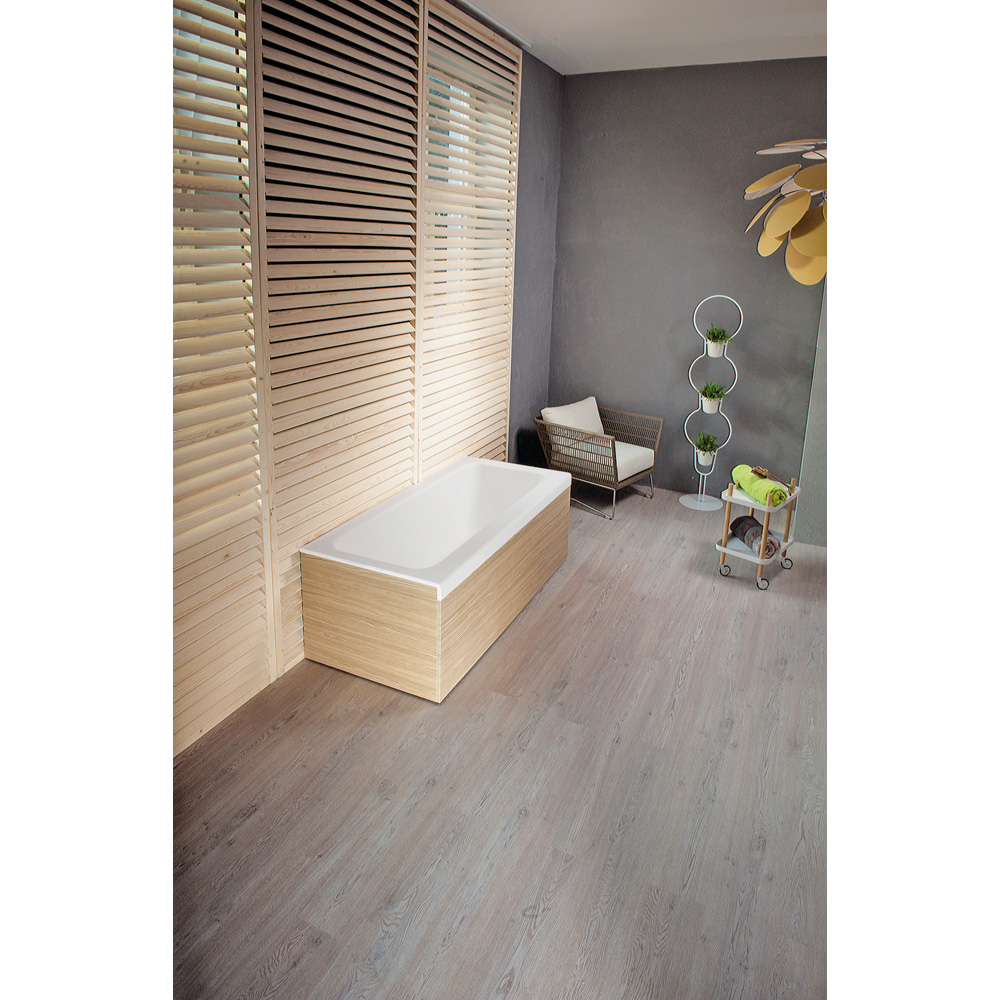 Pure 1l Back To Wall Solid Surface Bathtub With Light
