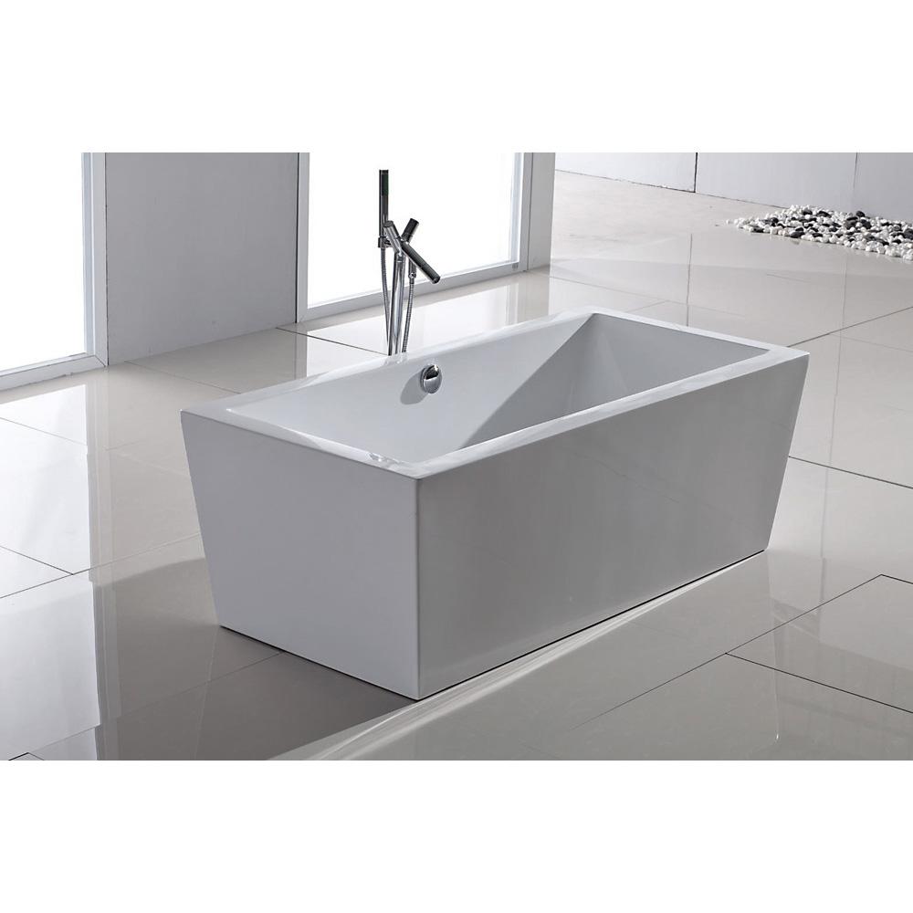 Aquatica purescape 026 freestanding acrylic bathtub for Standard size of freestanding bathtub