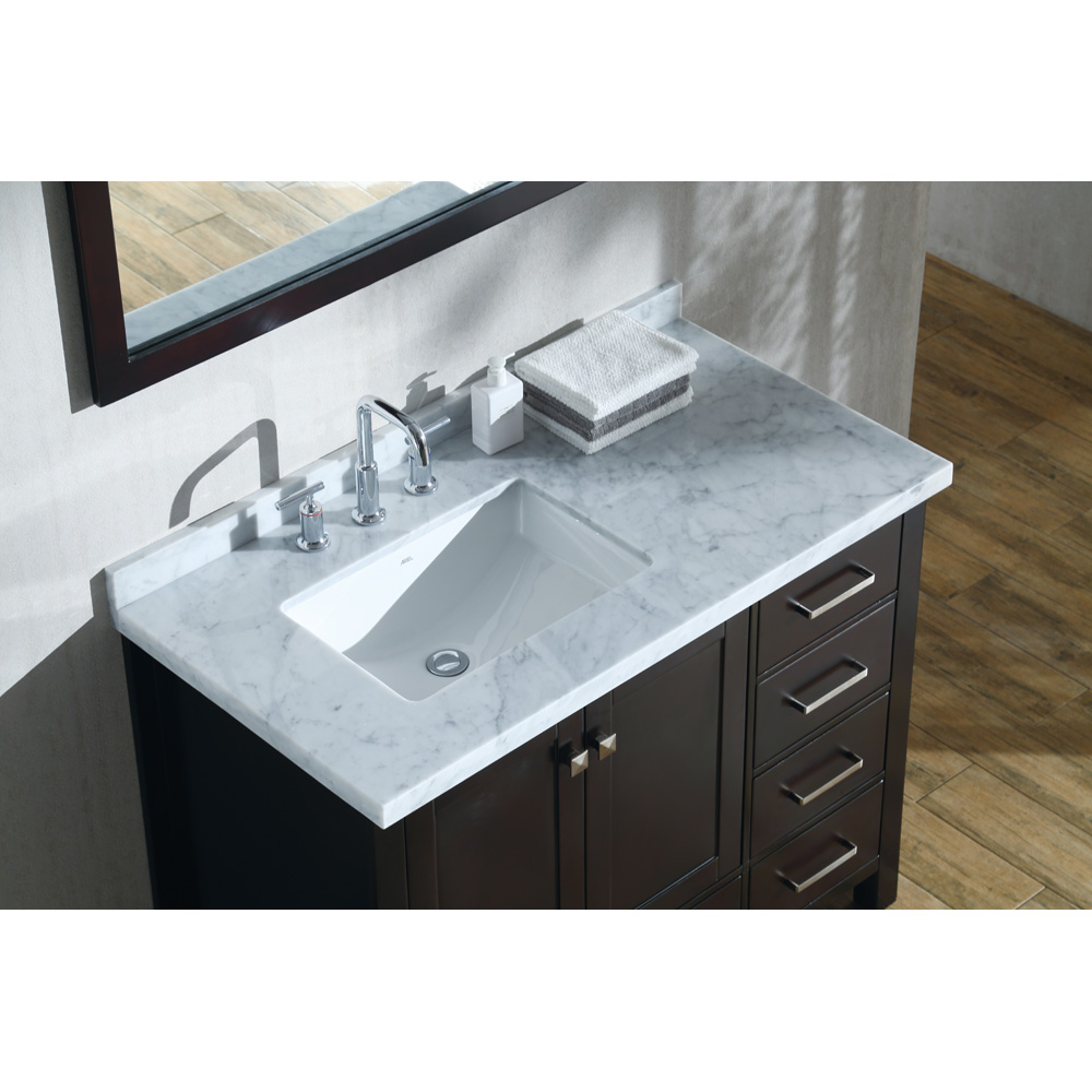 "Marble Bathroom Sink Countertop: Ariel Cambridge 43"" Single Sink Vanity Set With Left"
