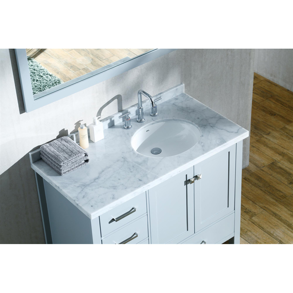 Ariel Cambridge 43 Quot Single Sink Vanity With Right Offset