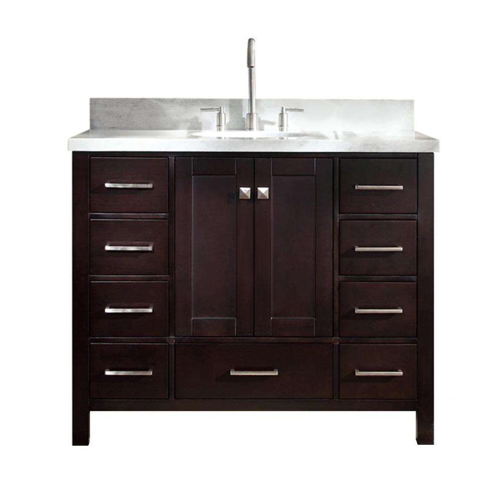 Ariel Cambridge 43 Quot Single Sink Vanity With Carrara White