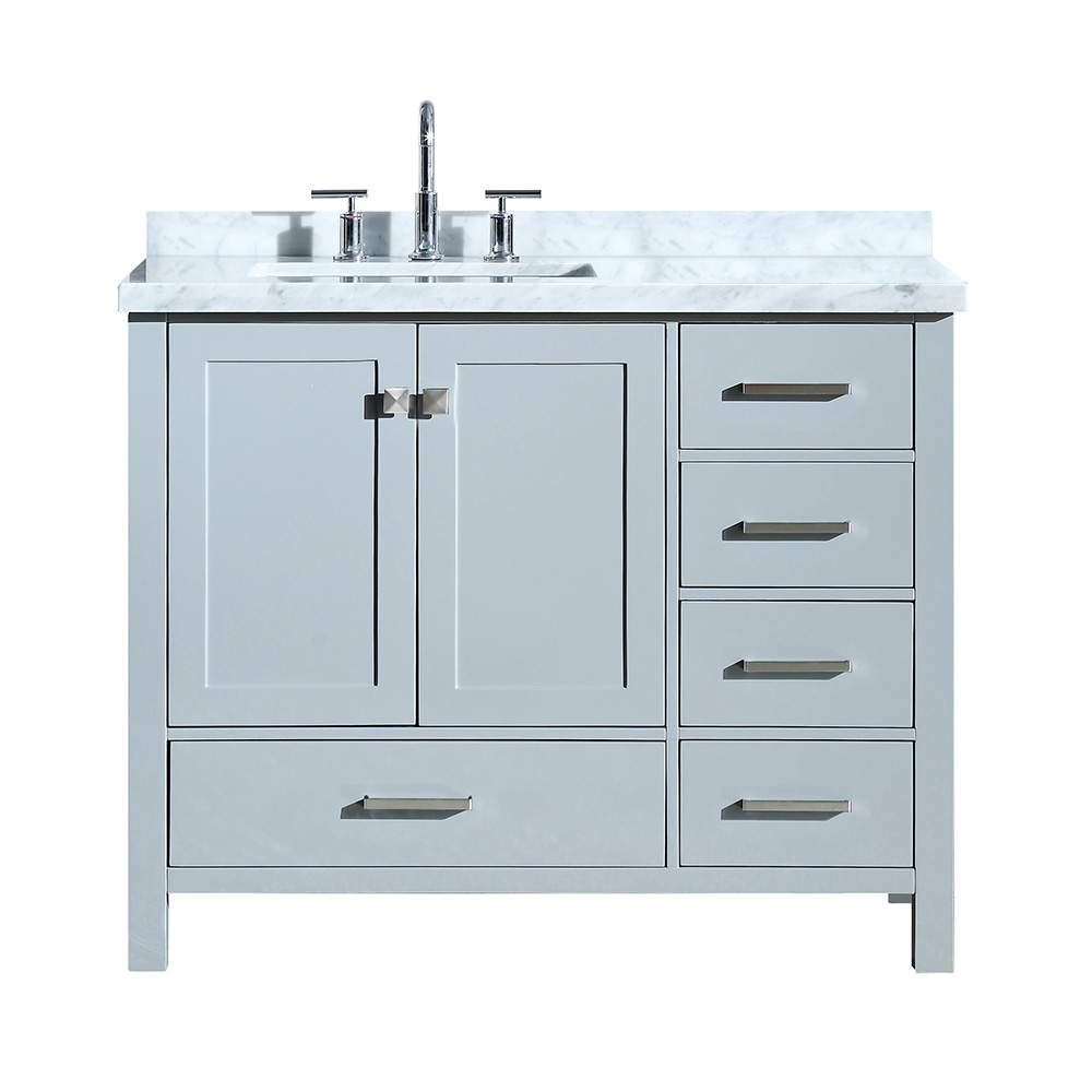 Single Sink Vanity With Left Offset