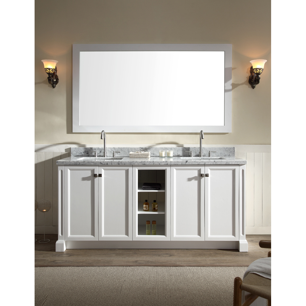white bathroom vanity set ariel westwood 73 quot sink vanity set with 21479
