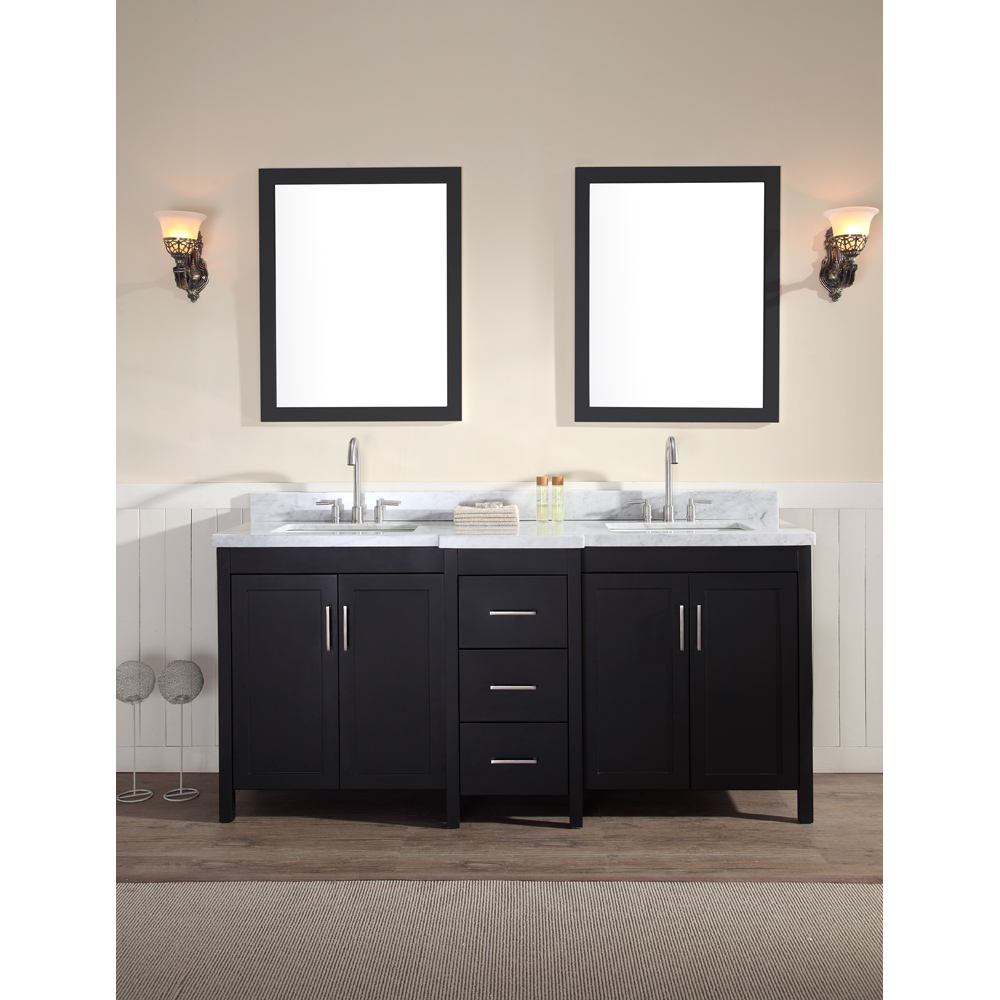 Ariel Hollandale 73 Quot Double Sink Vanity Set With Carrera