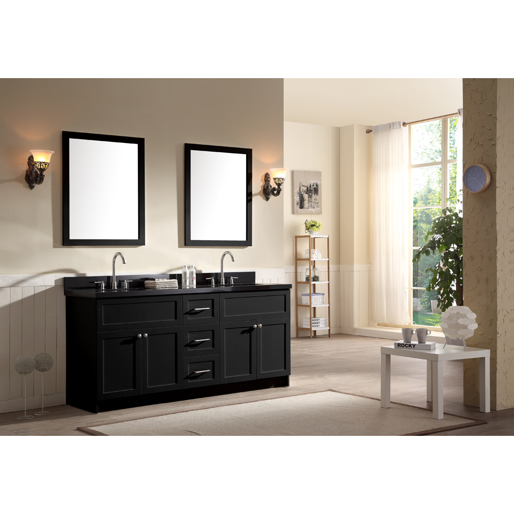 Ariel Hamlet 73 Quot Double Sink Vanity Set With Absolute