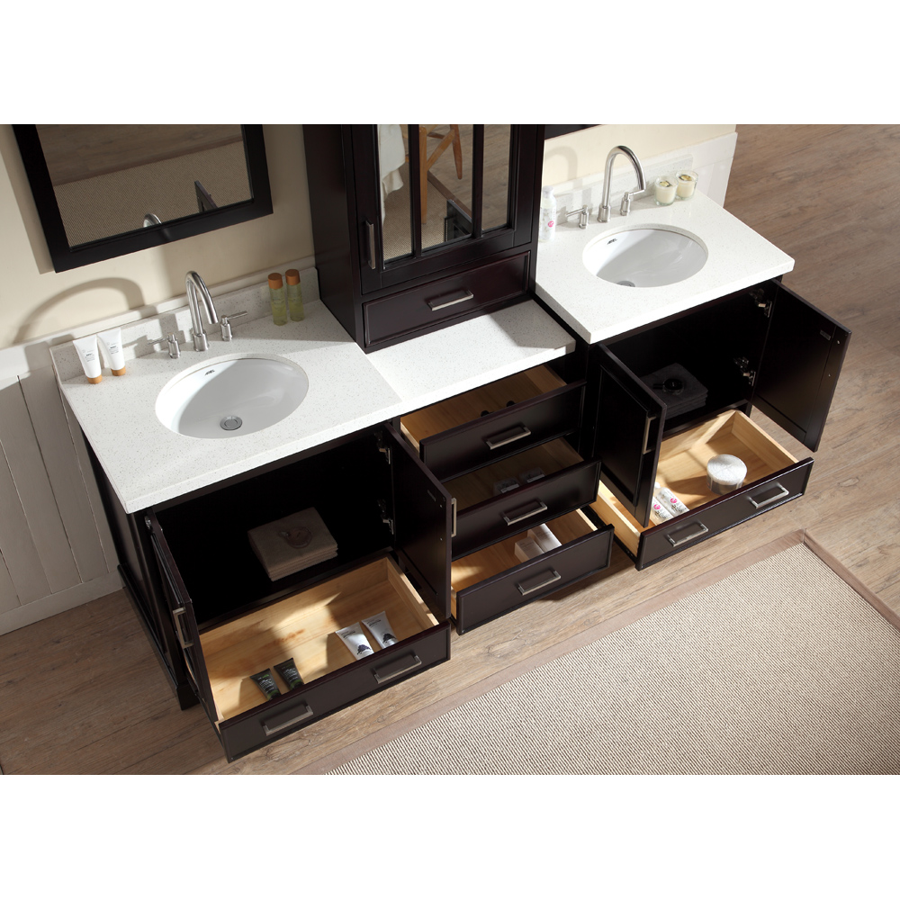 Ariel Stafford 85 Quot Double Sink Vanity Set With White