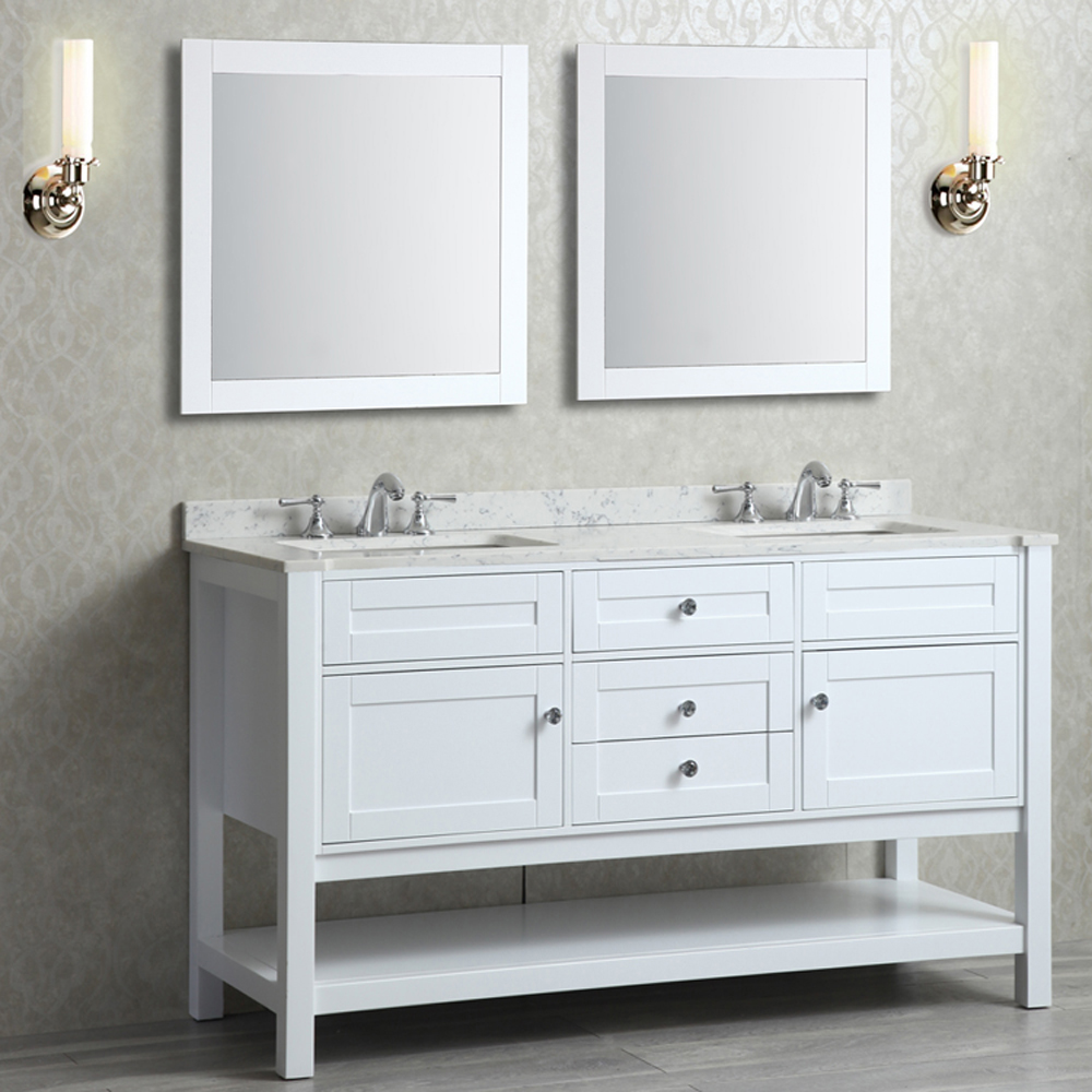 Seacliff By Ariel Mayfield 60 Quot Double Sink Vanity Set With