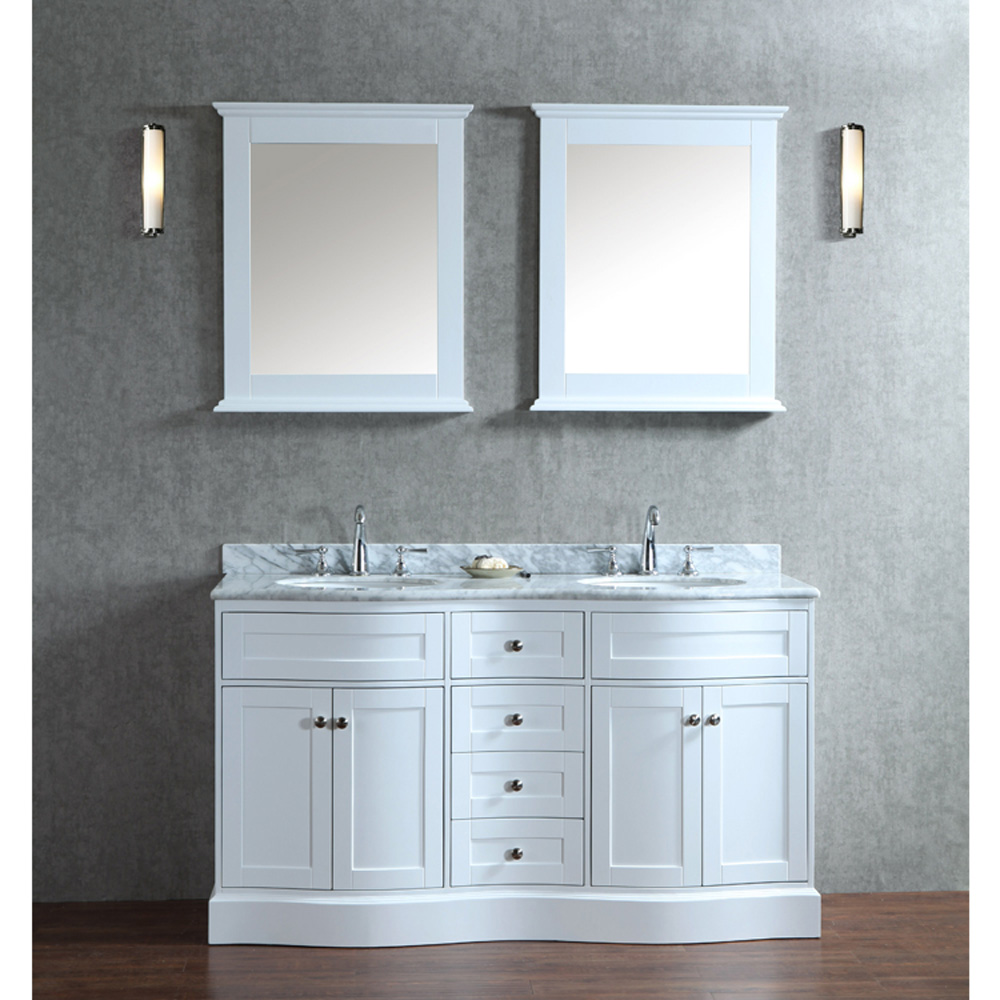 Seacliff By Ariel Montauk 60 Quot Double Sink Vanity Set With