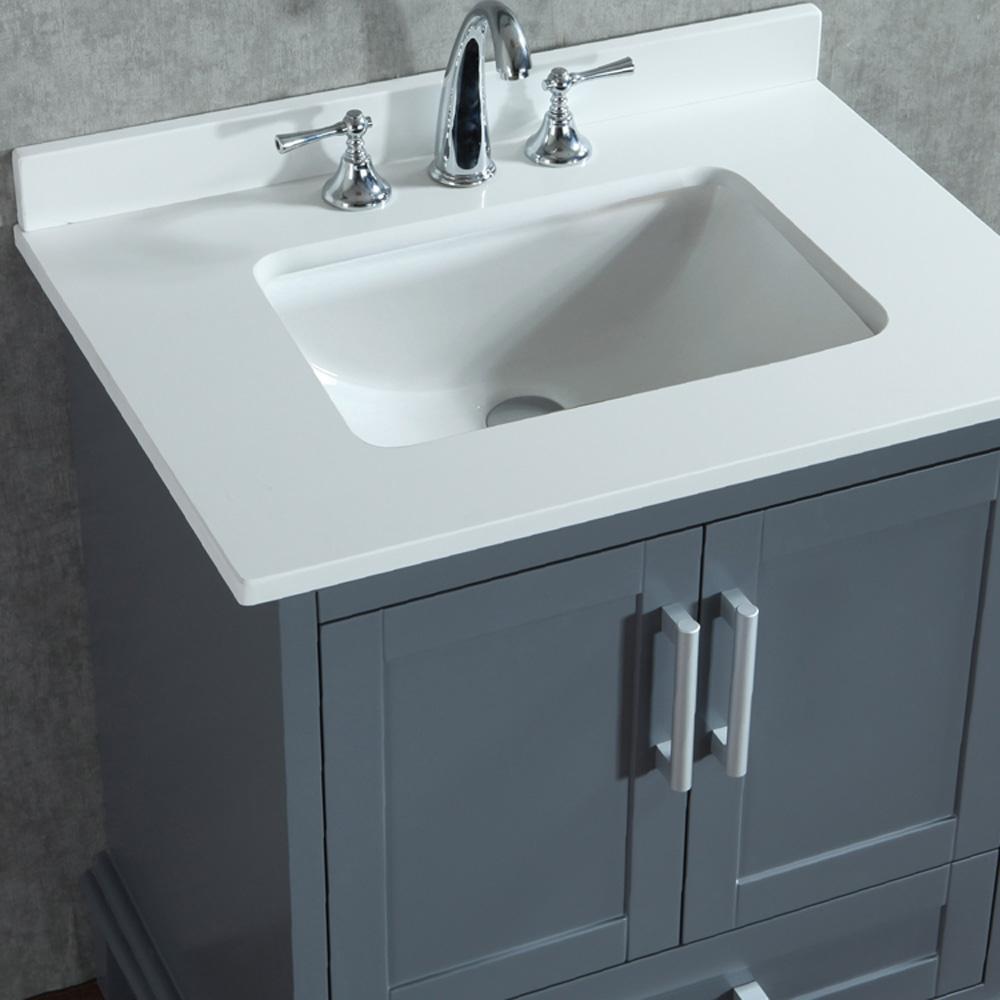 """Sink Countertop Bathroom: Seacliff By Ariel Nantucket 30"""" Single Sink Vanity Set"""