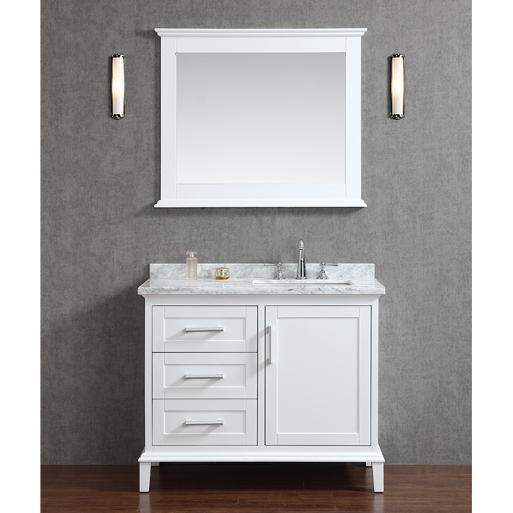 white single bathroom vanity seacliff by ariel nantucket 42 quot single sink bathroom 21590