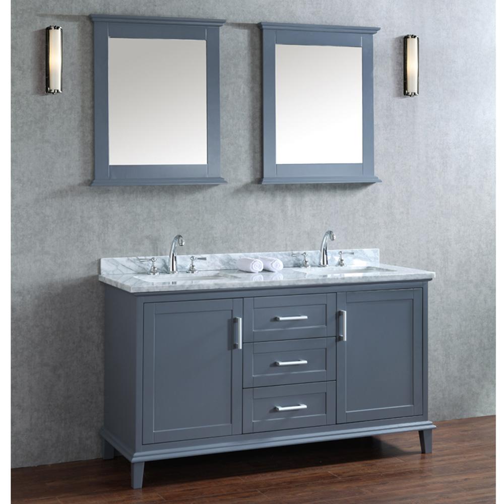 Seacliff By Ariel Nantucket 60 Quot Double Sink Vanity Set