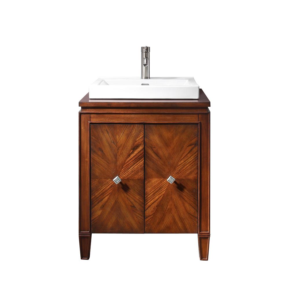 Avanity Bwood 25 Bathroom Vanity With Semi Recessed Sink New Walnut