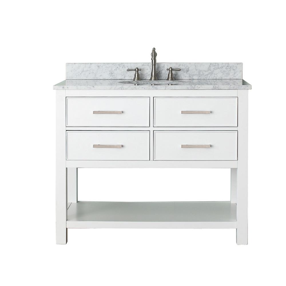 Avanity brooks 42 single bathroom vanity white free shipping modern bathroom for 42 inch vanities for bathrooms