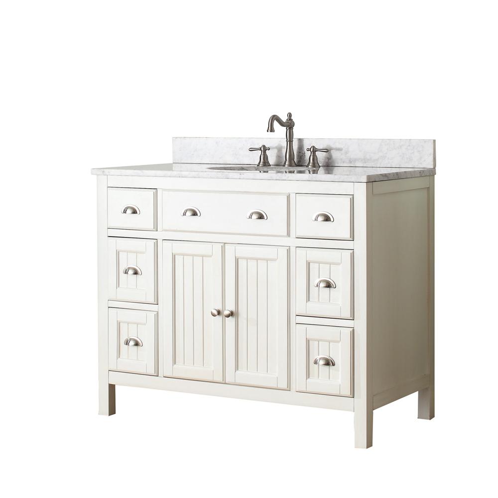 Avanity Hamilton 42 Quot Single Bathroom Vanity French White