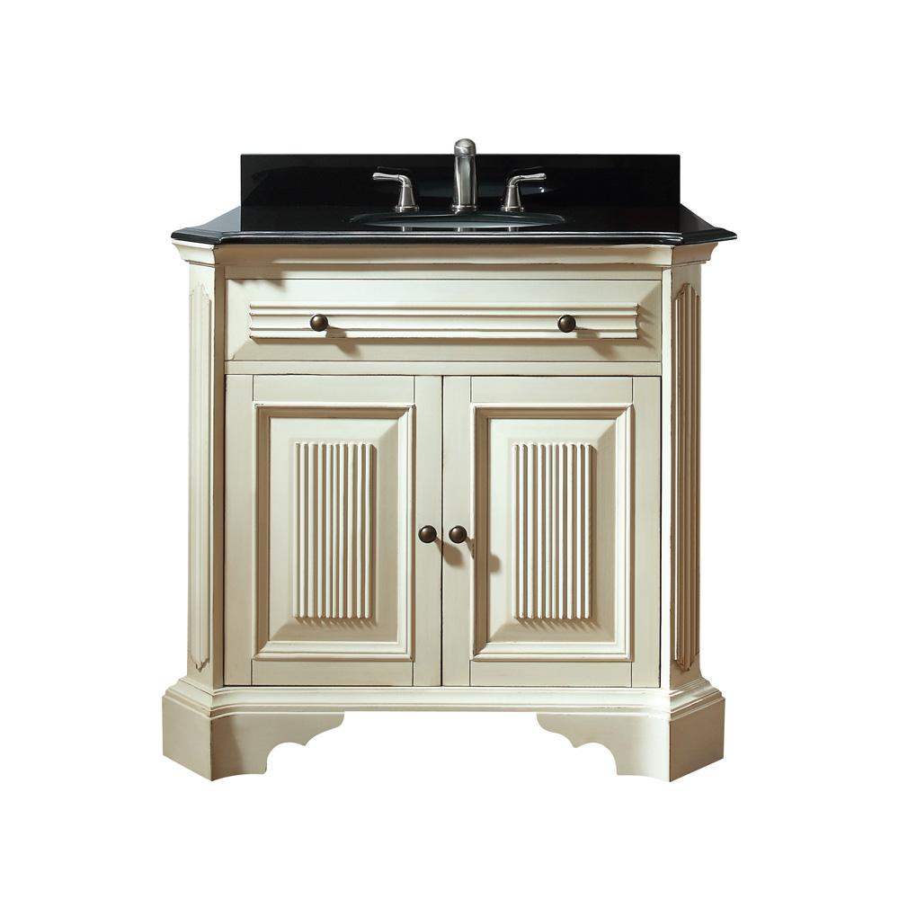 Avanity Kingswood 36 Vanity Distressed White Free Shipping Modern Bathroom