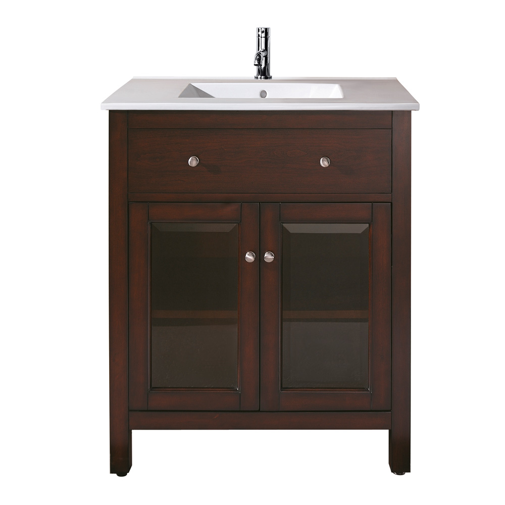 avanity lexington 24 bathroom vanity with integrated vc counter and sink light espresso. Black Bedroom Furniture Sets. Home Design Ideas