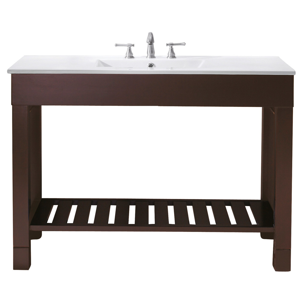 Avanity loft 48 single modern bathroom vanity set dark walnut free shipping modern bathroom - Kona modern bathroom vanity set ...