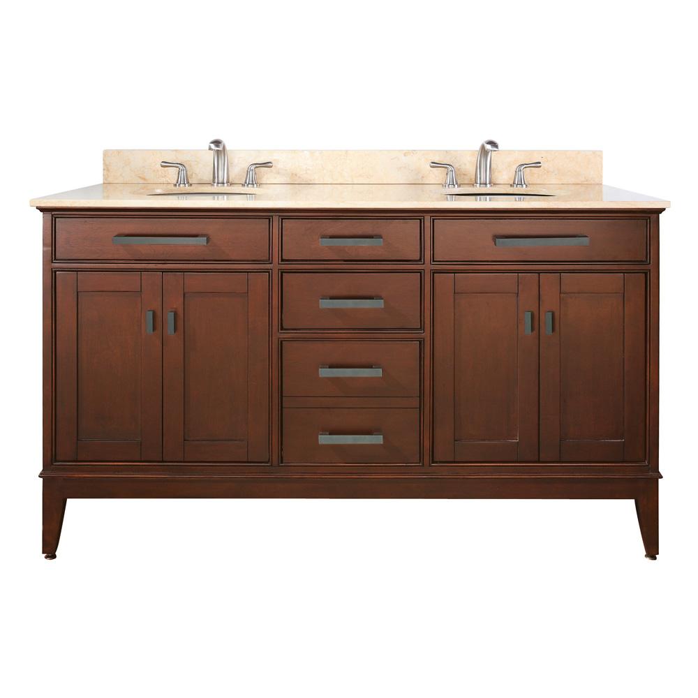 Avanity madison 60 double bathroom vanity tobacco for Avanity bathroom vanities
