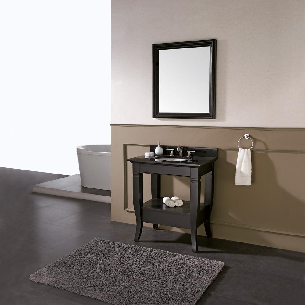 Avanity Milano 31 Quot Bathroom Vanity Set Black Overmount