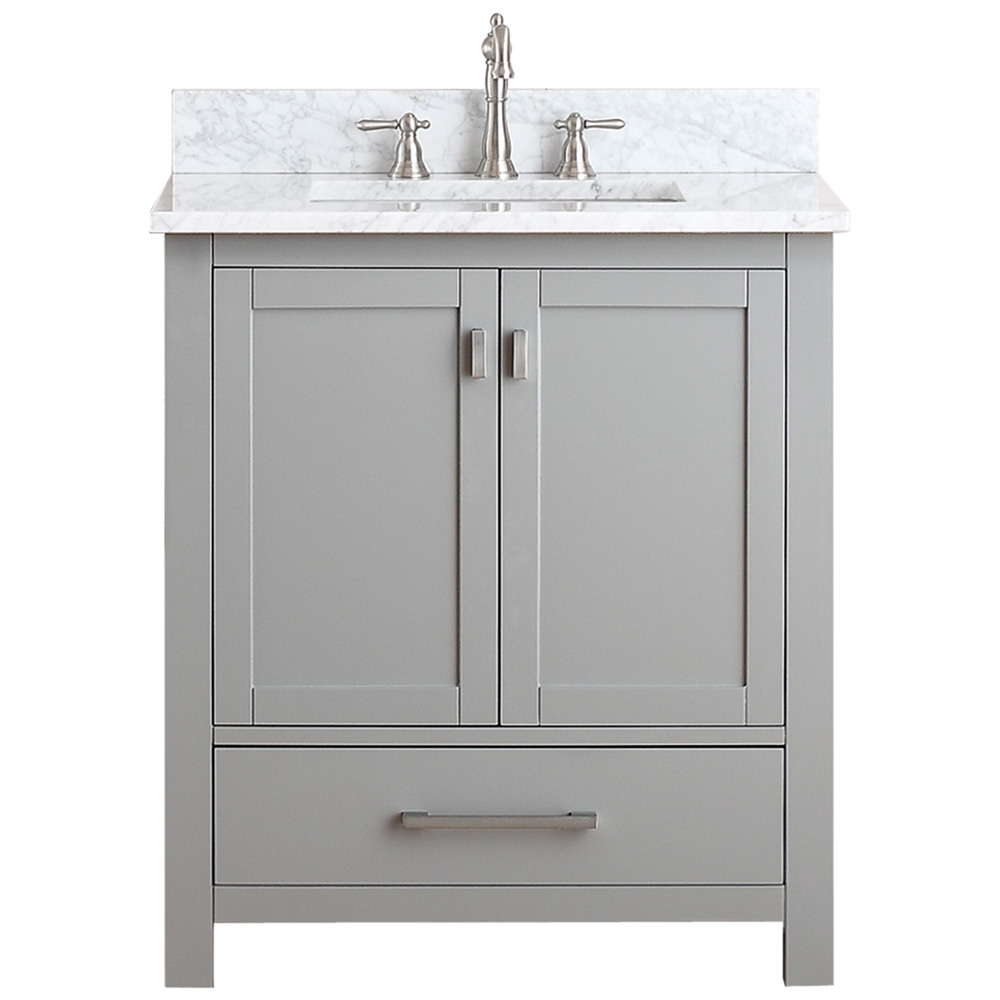 Avanity modero 30 single bathroom vanity chilled gray for Bathroom cabinets 30 inch
