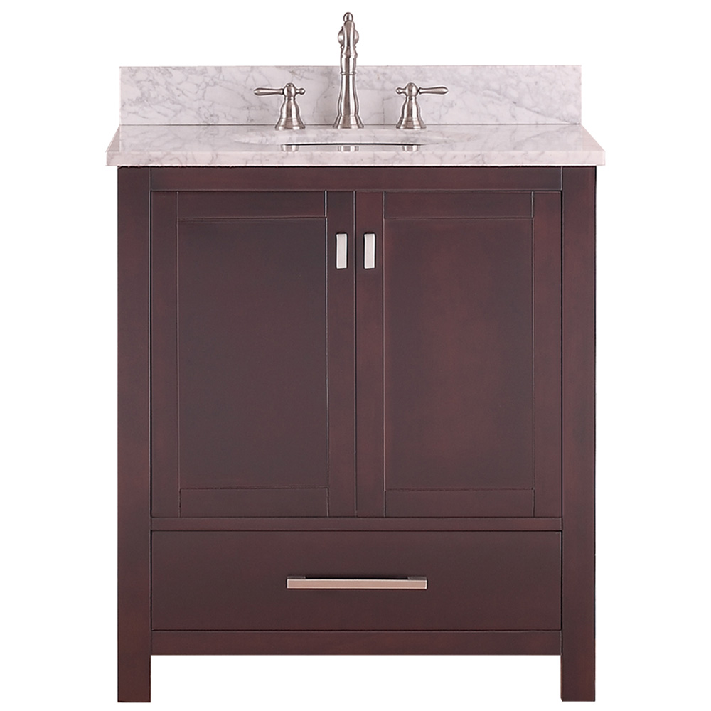 Avanity modero 30 single bathroom vanity espresso for 30 modern bathroom vanity