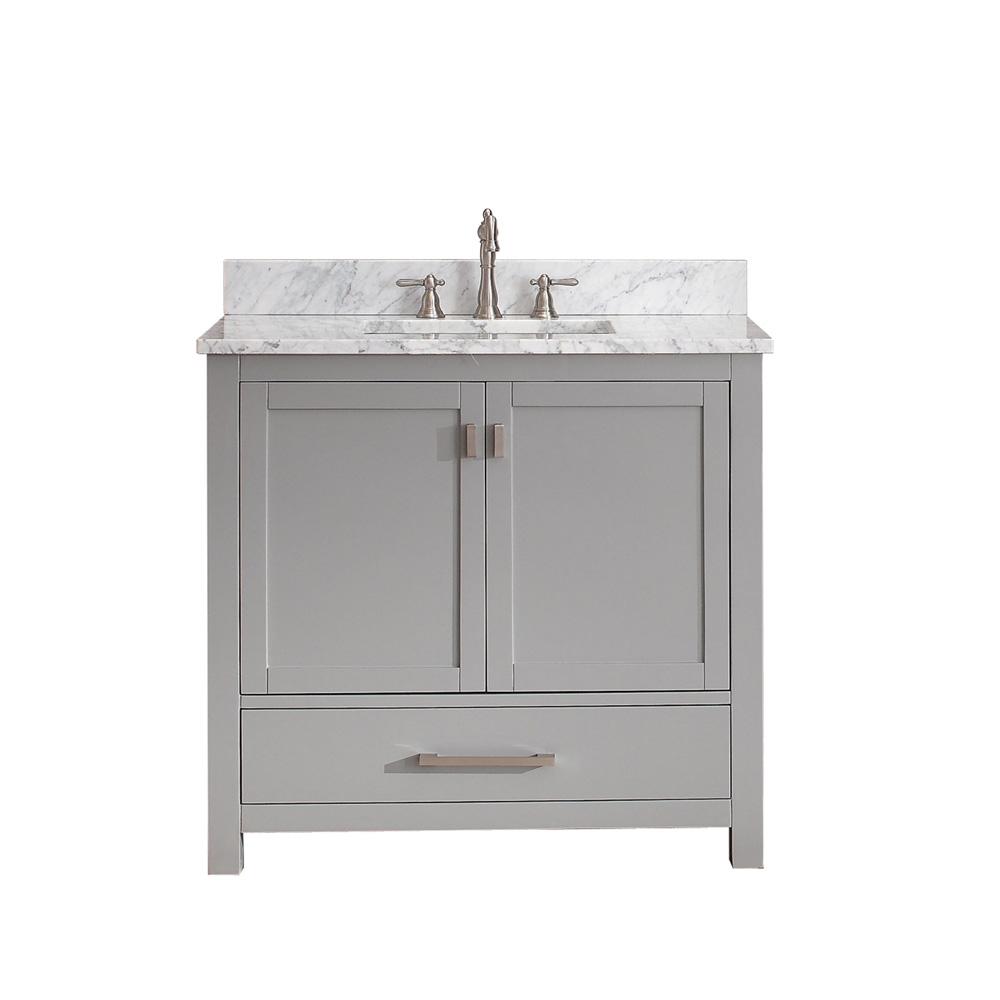 "Avanity Modero 36"" Single Bathroom Vanity - Chilled Gray ..."