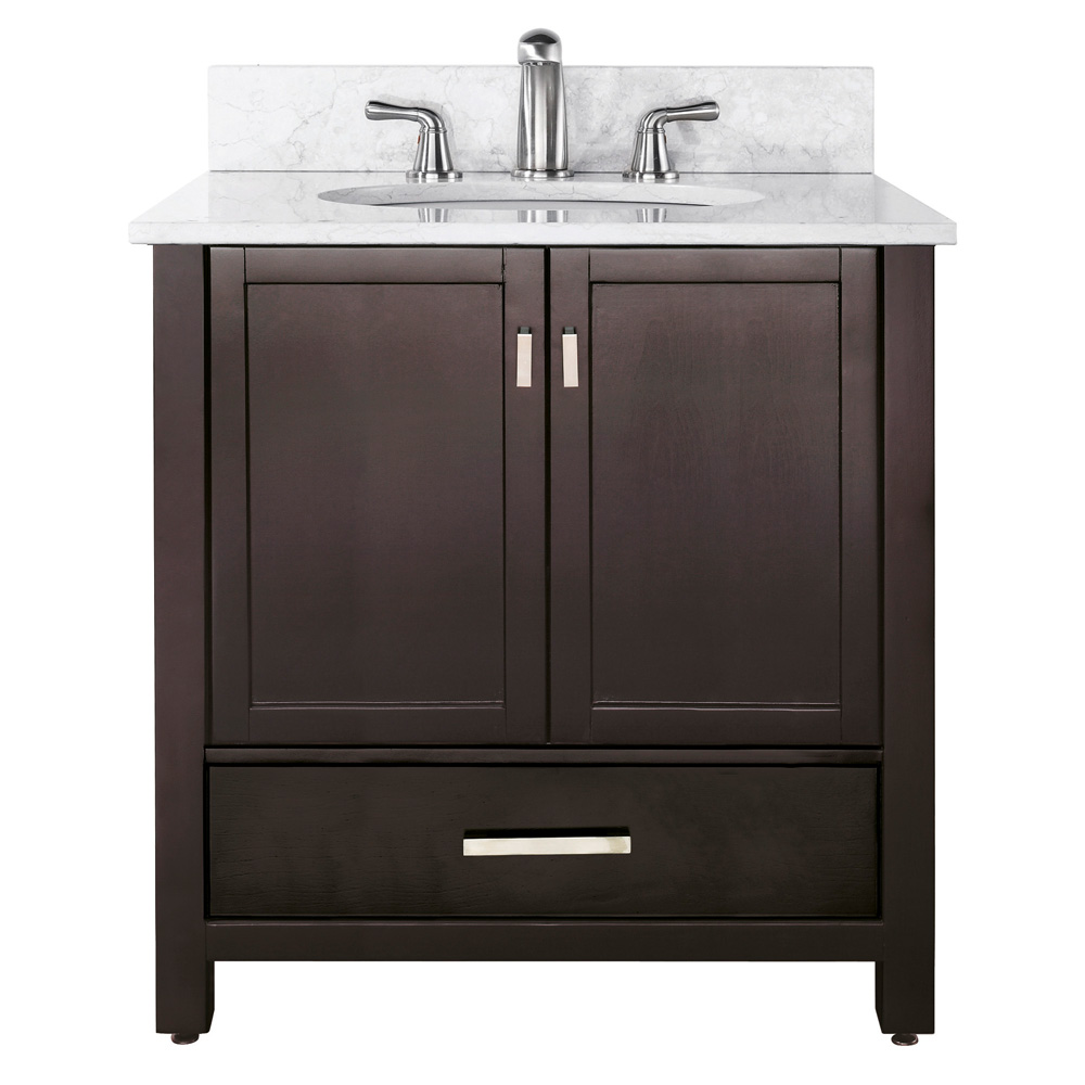 Avanity modero 36 bathroom vanity espresso free shipping modern bathroom - Contemporary european designer bathroom vanities ...