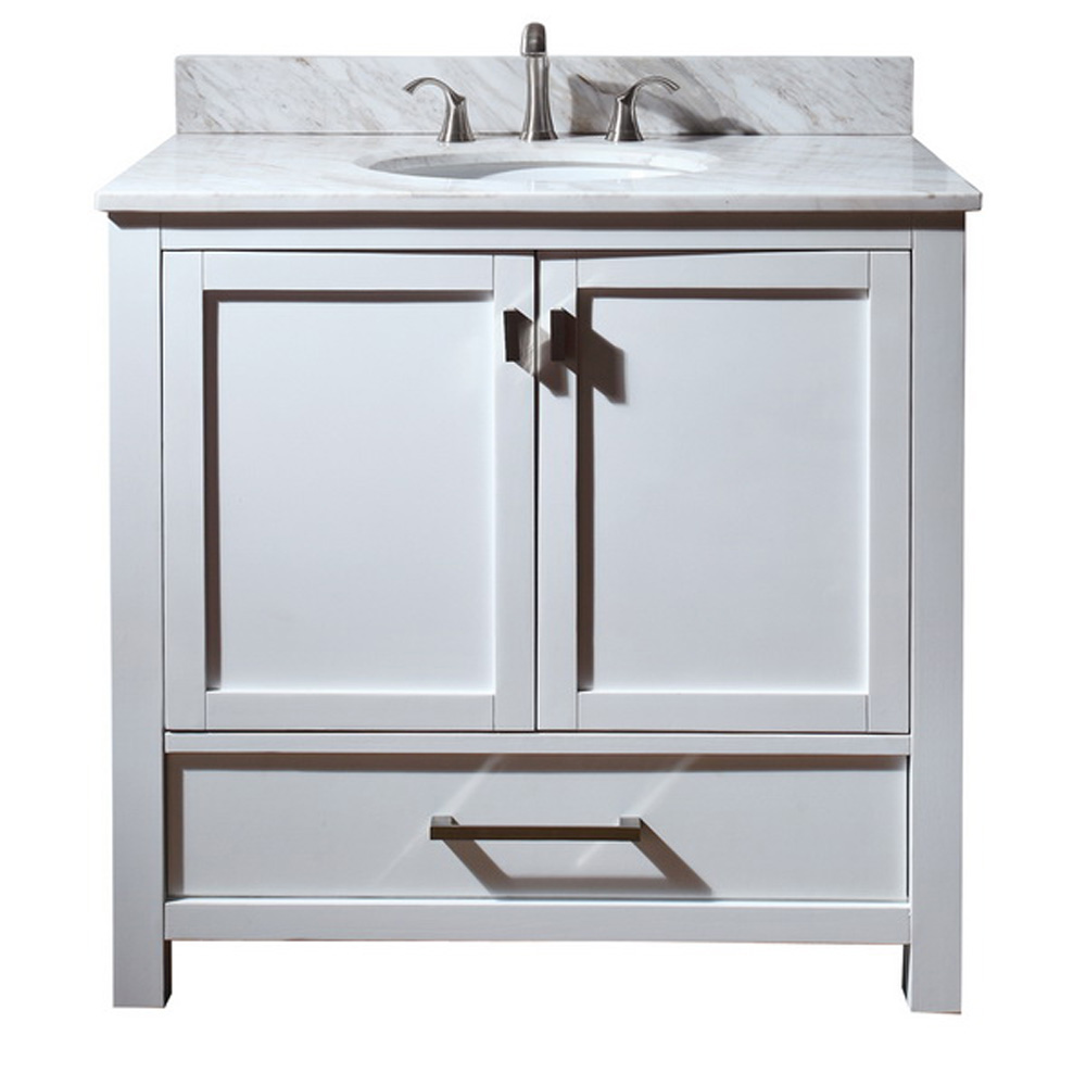 Avanity modero 36 bathroom vanity white free shipping for Avanity bathroom vanities