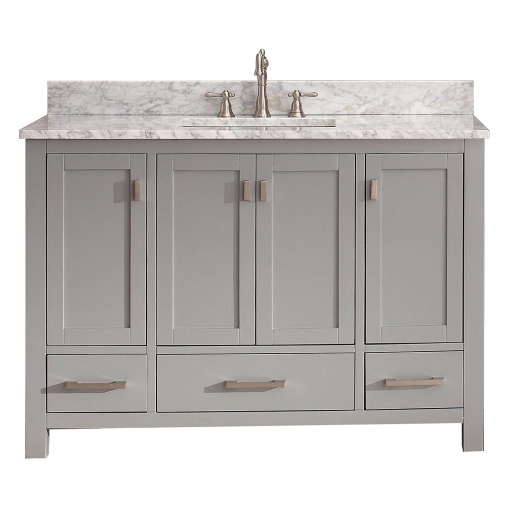 Avanity Modero 48 Quot Single Bathroom Vanity Chilled Gray